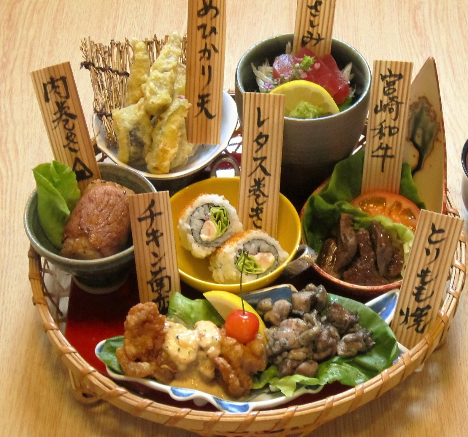 宮崎名物盛りかご膳、ランチで人気です!
